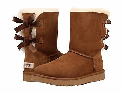 Women's Shoes UGG Bailey Bow II Boot 1016225 Chestnut 5 6 7 8 9 10 11 *New*