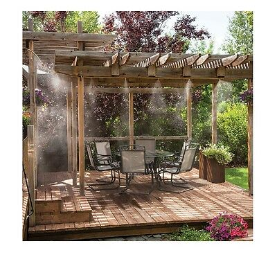 Misting System Patio Deck Porch Outdoor Cooling Mister Kit Air Mist Water Tubing
