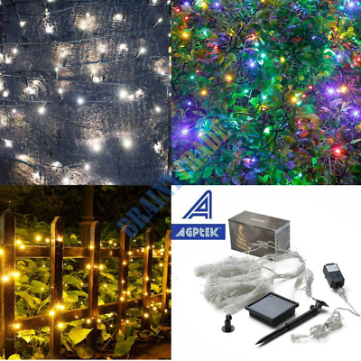 Solar Powered 108FT 300 LED String Fairy Lights Garden Outdoor Xmas Party Lamp