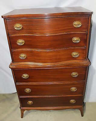 Vintage Mahogany White Furniture Co. Chest on Chest Highboy