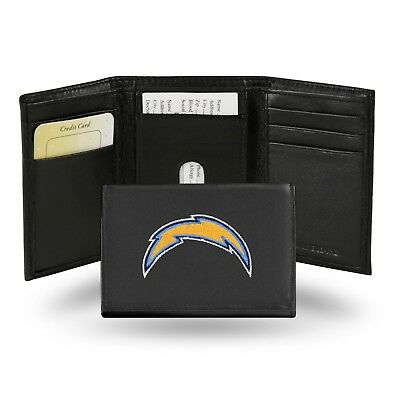 San Diego Chargers NFL Team Logo Embroidered Leather TRIFOLD Wallet