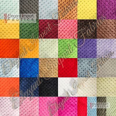 """Minky Minkee Chenille Dot Soft Fabric 38 Color 60""""w By The Yard Free Shipping!!!"""