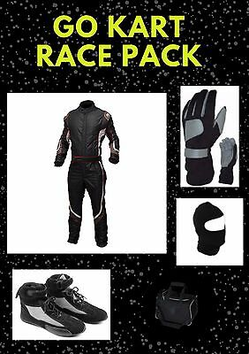 Red n White Go Kart Race suit (includes Suit, Gloves, Balaclava & Shoes)