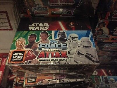 Topps Star Wars Force Attax Full Box Of 24 Sealed Packets