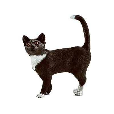 Schleich North America 13770 GRY/WHT Standing Cat - Quantity 1
