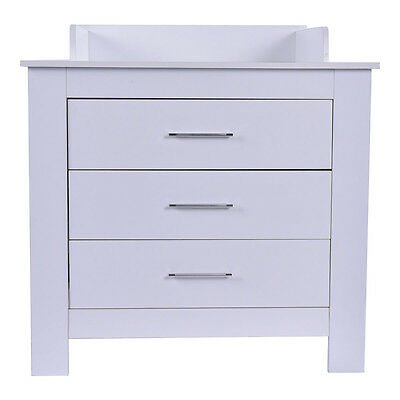 Baby Changing Table Nursery Diaper Station Dresser Infant Storage 3 Drawer White