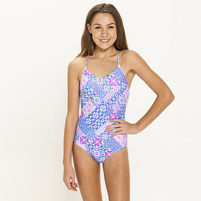 Kaiami Girls Elise Tile One Piece Swimsuit in Multi-Coloured