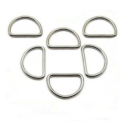 100/200X Metal 25mm D Ring D-rings Purse Buckles For Clothes Bag Strap Web Belt