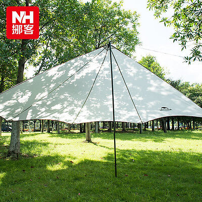 Naturehike Outdoor Waterproof Awning Camping Sun Shelter Sunshade+1*2m Tent Pole