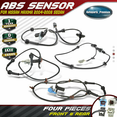 4x ABS Wheel Speed Sensor for Nissan Maxima 2004-2008 V6 3.5L Front and Rear L&R