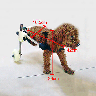 """Cart Height 10""""  Pet Dog Wheelchair Walk For Handicapped Doggie Stainless Steel"""