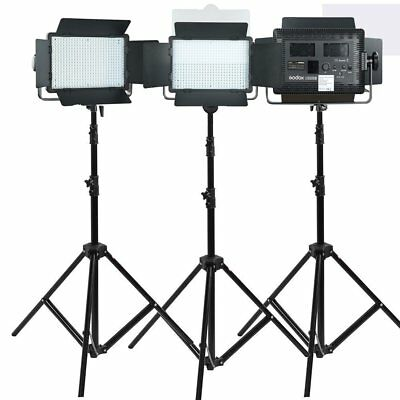 Godox 3X LED500C Studio Continuous LED Lights with Light Stands 3300-5600K