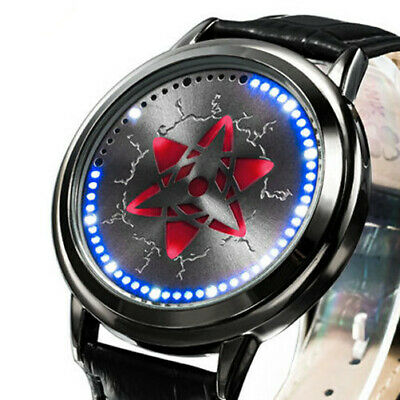 Naruto Watch Sasuke Kakashi Sharingan LED Watch Waterproof Touch Screen Watch