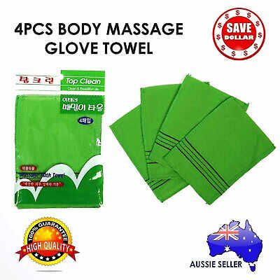 4Pcs Korean Massage Body Glove Rough Bath Towel Exfoliating Scrubber Italy Skin