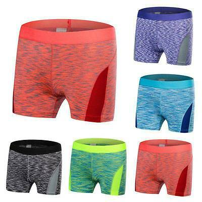 Women Yoga Running Stretch Shorts Summer Fitness Gym Workout Sports Pants S-XXL
