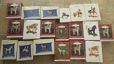 Hallmark Vintage Style Horse Toys Pony for Christmas Tree Ornaments Lot Of 19!