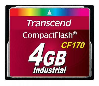4GB Transcend CF 170X Speed Industrial CompactFlash Memory Card