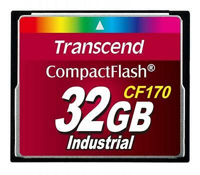 32GB Transcend CF 170X Speed Industrial CompactFlash Memory Card