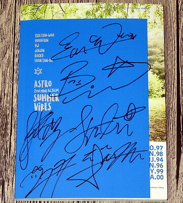ASTRO autographed signed 2016  mini2nd album SUMMER VIBES CD korean version