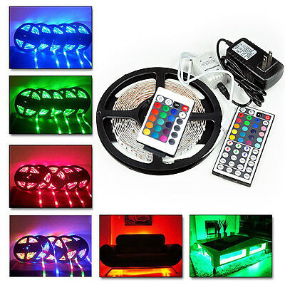 20M 15M 10M 5M 3528SMD LED RGB Color Change Strip Light Kit Flexible Dimmable