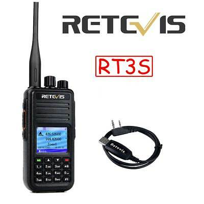 Retevis RT3 UHF400-480MHz 1000CH DMR Analog and Digital Walkie Talkie+Tracking