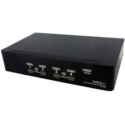 StarTech SV431DPUA StarTech.com 4 Port USB DisplayPort KVM Switch with Audio - 4