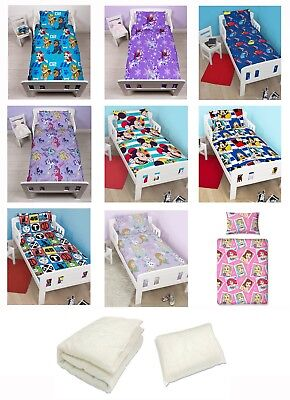 Childrens 4-in-1 Bundle For Junior Cot Bed - Kids Bedding Set inc Quilt & Pillow