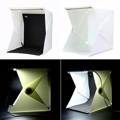 Photo Studio Soft Box Folding Portable with Led Light Background Backdrops Kit