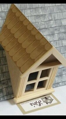 Dolls House Miniatures 1/12th Scale Wooden Dormer Window 45 Degree DIY628