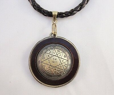Protection Seal of Solomon Necklace, Leather, Adjustable. Brand New