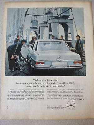 Advertising Pubblicita' Mercedes Benz 250 S  -- 1966