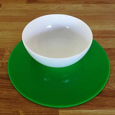 Bright Green Round Placemat Set
