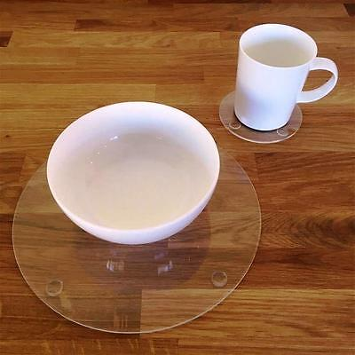 Clear Round Placemat and Coaster Set
