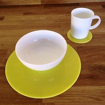 Yellow Round Placemat and Coaster Set