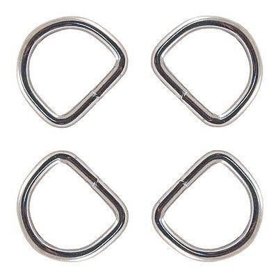 25 - Country Brook Design® 1.6cm Welded D-Rings. Free Delivery