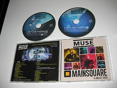 Muse 2 Cd Live At The Mainsquare Festival 04/07/2015