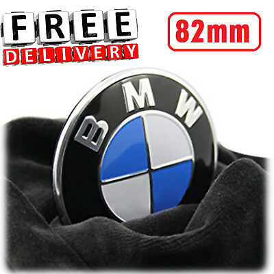BMW Hood Emblem 82 mm Pin Trunk Car Logo Roundel Set Front Rear Badge New