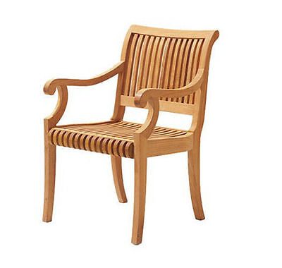 Giva A Grade Teak Wood Dining Arm Chair Outdoor Garden Patio Furniture New