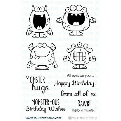 Your Next Stamp Clear Stamps 10cm x 15cm -Silly Monsters. Free Delivery