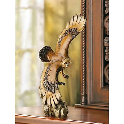 Soaring Eagle American Bald Bird Statue Sculpture - New