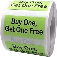 Buy One, Get One Free Stickers