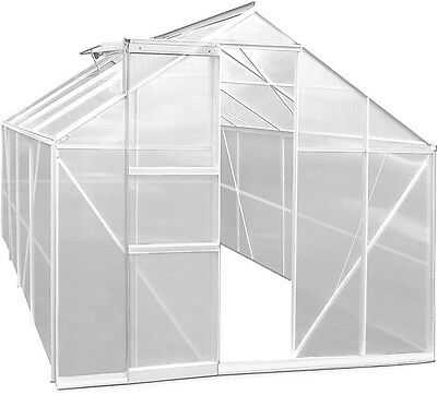 Large Polycarbonate Greenhouse Garden Structure Aluminium Frame Plants Growhouse