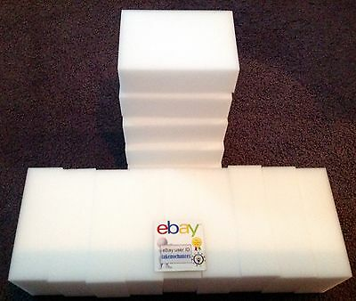 "30 Pack Extra Large 1-1/4"" Magic Sponge Eraser Melamine Foam Cleaning USA Seller"
