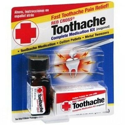 RED CROSS TOOTHACHE OUTFITS 1/240ml. Shipping Included