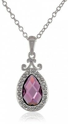 Disney Girls Princess Sofia the First Crystal Amulet Chain Pendant Necklace, 46c