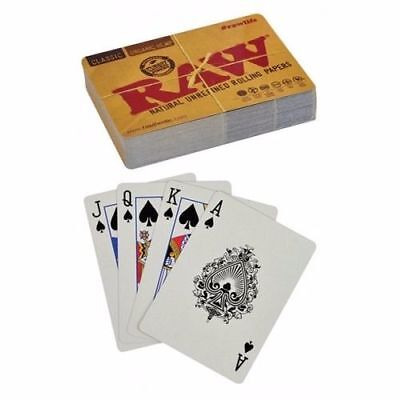 Raw Natural Rolling Papers Deck of Playing Cards Poker Standard Size
