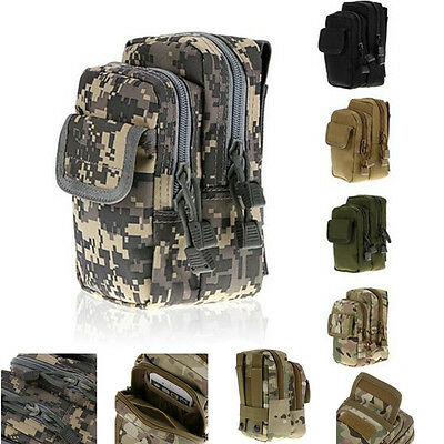 Sports Military Tactical Molle Belt Waist Bag Fanny Pack Pouch Mens Case Hiking