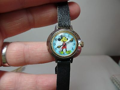 "Vintage Swiss Mout Mickey Mouse Wrist Watch ""Youth"" ?"