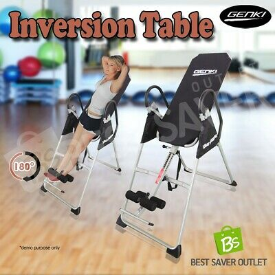 Inversion Table Folding Upside Down Gravity Exercise Fitness Back Pain Home Gym