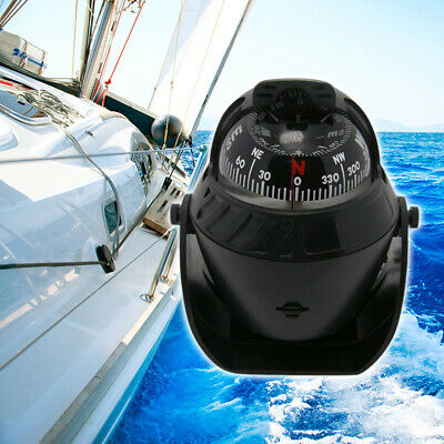 LED Light Electronic Car Navigation Sea Marine Boat Ship Compass Multi-function